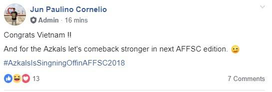 Hình ảnh Người Philippines thán phục, chúc Việt Nam gặp may mắn trước Malaysia trong trận chung kết AFF Cup số 2