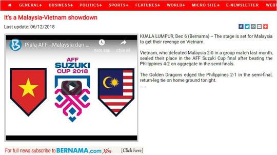 Báo Malaysia buông lời thách thức đội tuyển Việt Nam 2