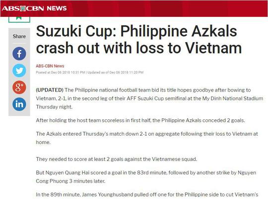 Truyền thông quốc tế đồng loạt tung hô tuyển Việt Nam sau chiến thắng trước Philippines 4