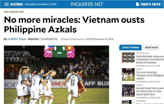 Truyền thông quốc tế đồng loạt tung hô tuyển Việt Nam sau chiến thắng trước Philippines 5