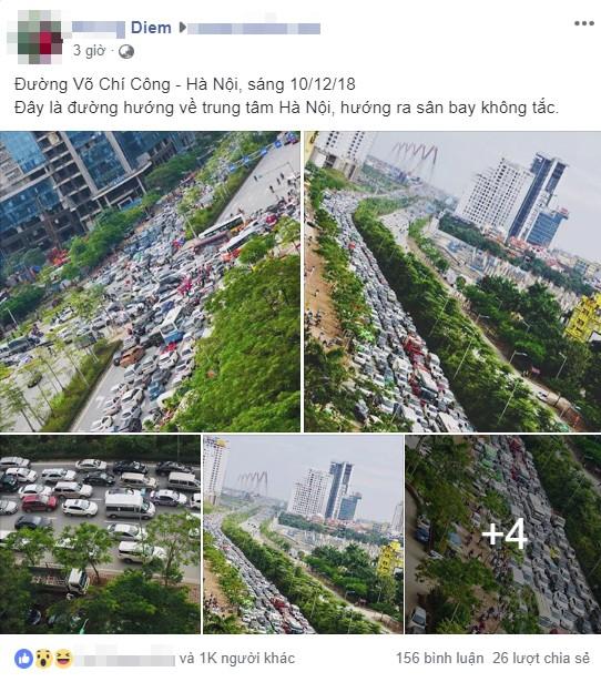 Dòng ô tô ùn tắc ở Hà Nội khiến nhiều người ngỡ như ở nước ngoài 1