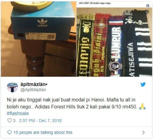 CĐV Malaysia rục rịch bán đồ kiếm tiền sang Việt Nam xem chung kết AFF Cup 2