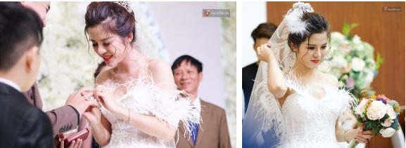 """Vợ Huy Cung mặc áo cưới 200 triệu, bật khóc vì bị chồng tung clip """"nói xấu"""" trước quan viên hai họ 8"""