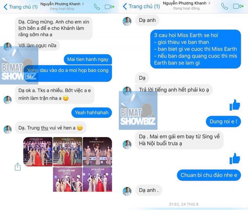 Lộ tin nhắn tố Hoa hậu Trái Đất 2018 Phương Khánh sửa vòng 1, quan hệ thân thiết với Chiêm Quốc Thái 3