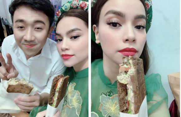 Hồ Ngọc Hà hạnh phúc khoe được Kim Lý chăm sóc từng ly từng tí, đích thân vào bếp làm bánh tẩm bổ bạn gái 1
