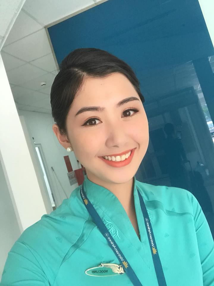 Nữ tiếp viên đi cùng tuyển AFF Cup VN từng thi Hoa hậu Việt Nam 3