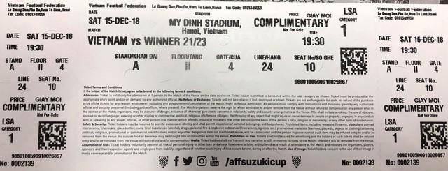 Thực hư chuyện tấm vé điềm báo chung kết Việt Nam vs Malaysia khiến CĐV hoang mang 1