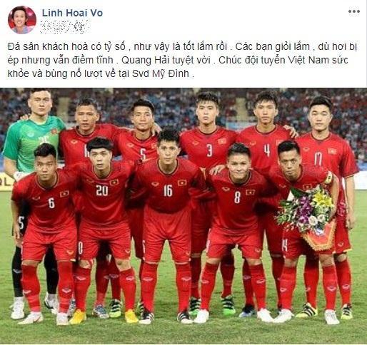 Hoài Linh viết tâm thư gửi đội tuyển Việt Nam, dự đoán kết quả lượt về trên sân Mỹ Đình 1