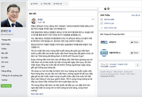 Tổng thống Hàn Quốc viết thư bằng tiếng Việt chúc mừng đội tuyển Việt Nam 1