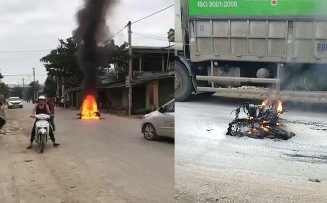 Hình ảnh Tin tức tai nạn giao thông mới nhất ngày 18/12/2018: Thanh niên đi SH gọi bạn mang xăng đến đốt xe nạn nhân sau va chạm số 1