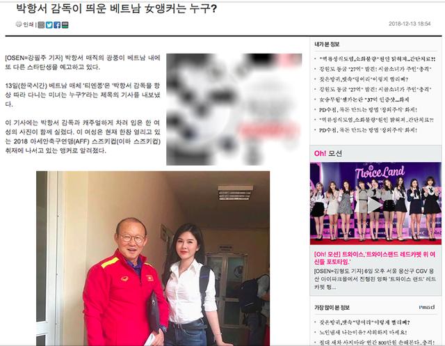 Báo Hàn khen ngợi nữ MC xinh đẹp luôn theo sát HLV Park Hang-seo 1