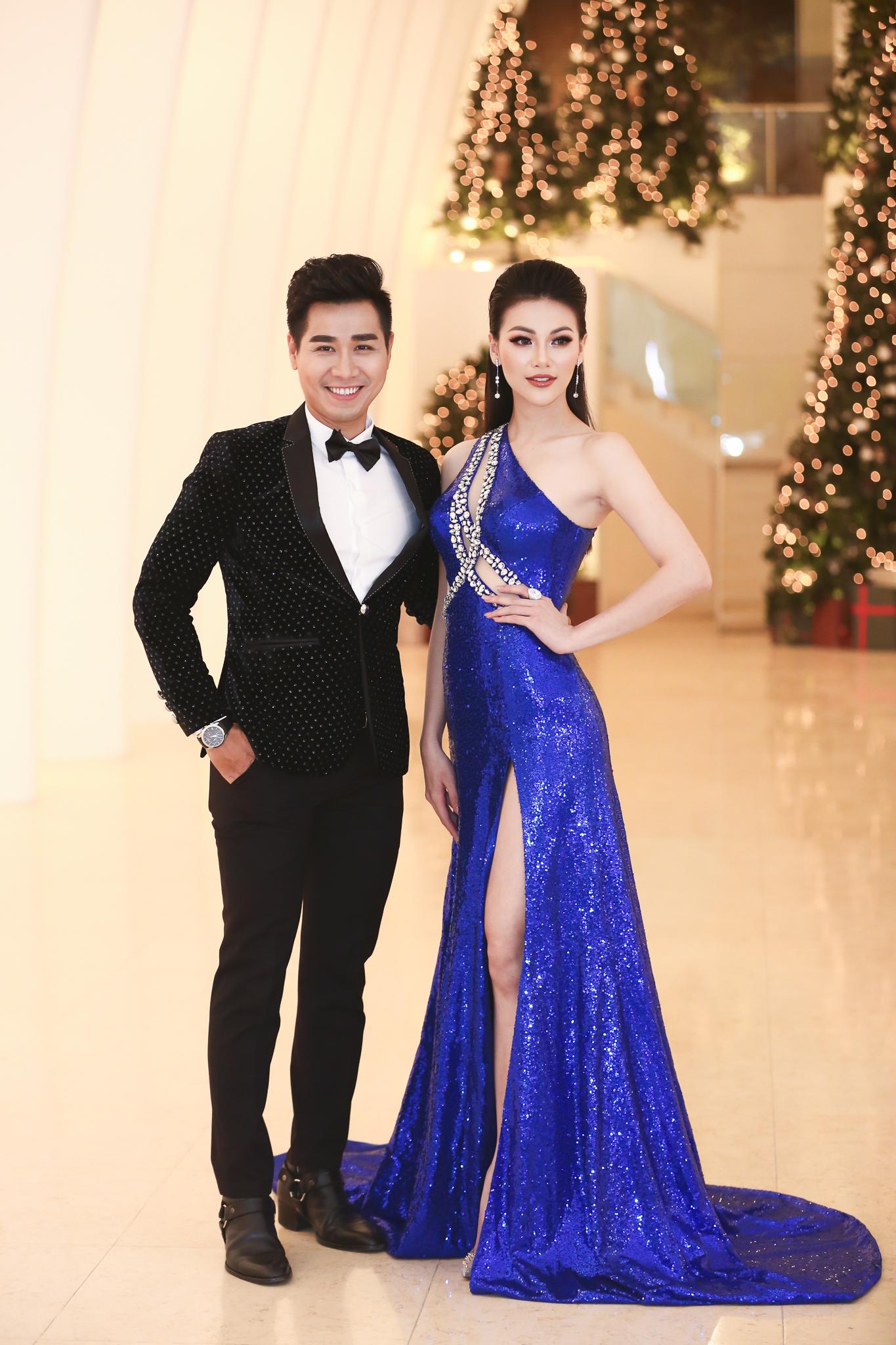 MC Nguyên Khang nâng váy cho Hoa hậu H'hen Niê trên thảm đỏ 6