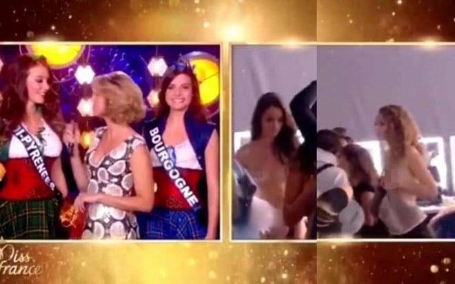 Thí sinh bị lộ cảnh thay đồ trên sóng trực tiếp chung kết Hoa hậu 1