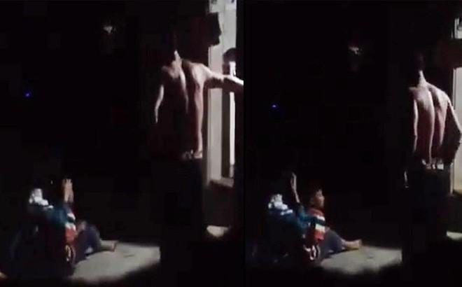 Phẫn nộ clip nghi bố đánh đập con gái dã man tại Hà Nội 1
