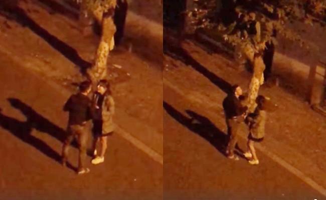 Đi chơi cùng trai lạ lúc nửa đêm, cô gái bị người yêu thẳng tay tát giữa đường 1