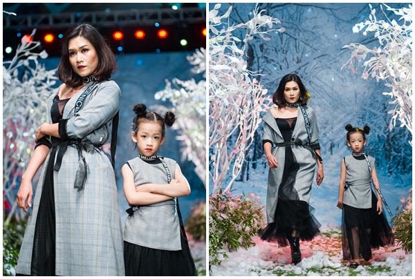 """Giải trí - Vietnam Kids Fashion Week mùa 3: """"Nguyệt thảo mai"""" catwalk cùng con gái 7 tuổi"""