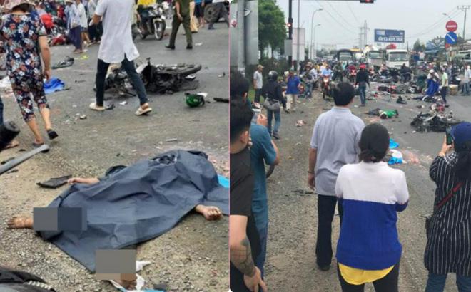 Hình ảnh Hình ảnh hiện trường tai nạn giao thông ở Long An số 1