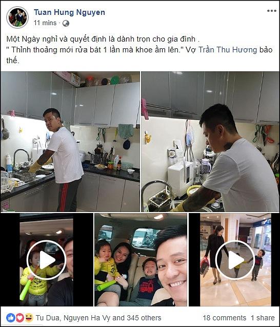Đăng ảnh chăm chỉ rửa bát lên mạng, fans thích thú khi Tuấn Hưng bị vợ bóc mẽ sống ảo 1