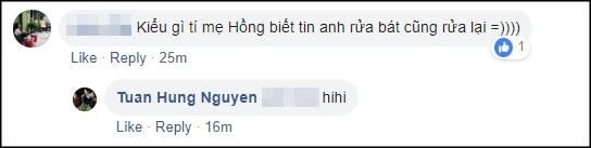 Đăng ảnh chăm chỉ rửa bát lên mạng, fans thích thú khi Tuấn Hưng bị vợ bóc mẽ sống ảo 2