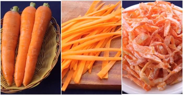 Hình ảnh Cách làm mứt cà rốt sợi ngon chuẩn đúng điệu cho ngày Tết nguyên đán số 2