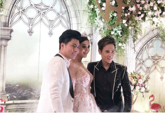 Hình ảnh Lâm Khánh Chi bất ngờ tiết lộ tên con trai đầu lòng trong buổi kỉ niệm 1 năm ngày cưới số 1