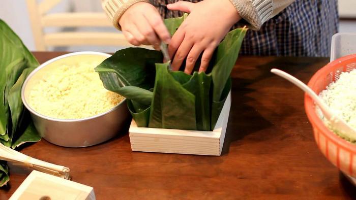 Hình ảnh Cách gói bánh chưng đảm bảo ngon, đẹp cho ngày Tết Nguyên đán số 8