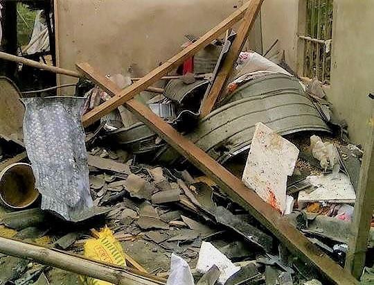 Quả pháo cối tự chế ở hiện trường vụ nổ sập nhà làm 5 người thương vong 1