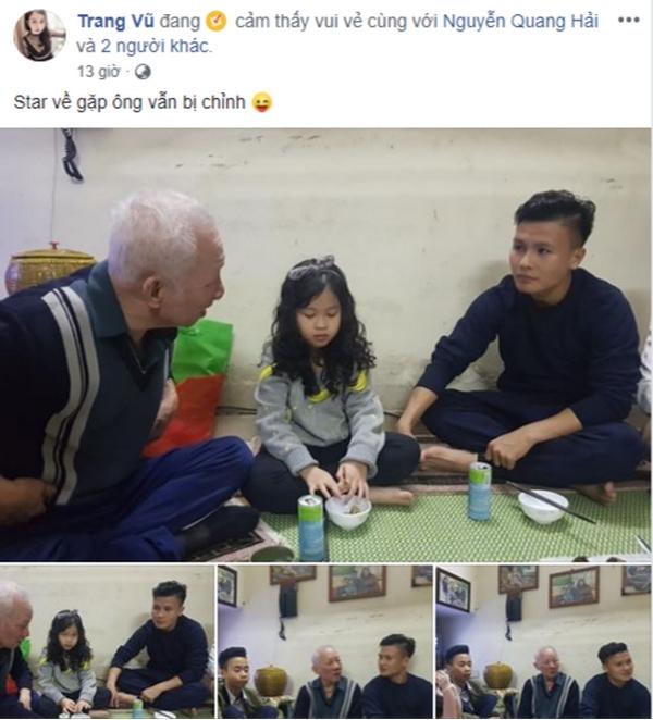 Ngoan, giỏi nhưng Quang Hải về thăm ông vẫn bị