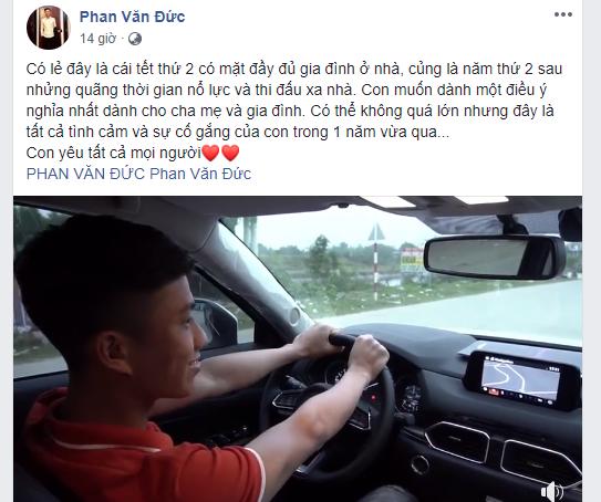 Mẹ Phan Văn Đức nói gì về con trai mua ô tô tiền tỷ đón gia đình về quê ăn Tết? 1