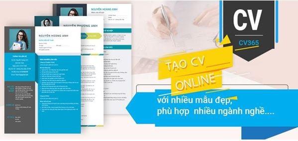 Timviec365.vn địa chỉ tạo CV  xin việc online chuyên nghiệp 2