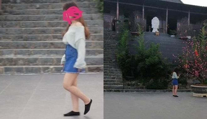 Hình ảnh Đi lễ chùa đầu năm, nhiều cô gái mặc trang phục xộc xệch, thiếu vải gây nhức mắt số 2
