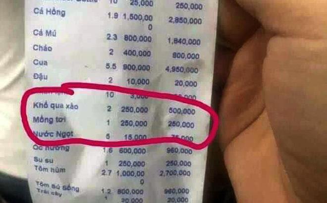 Hình ảnh Nhà hàng bị tố chặt chém du khách dĩa mồng tơi 250 nghìn đồng bị phạt 750 nghìn đồng số 1