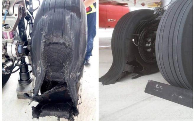 Máy bay bị hư lốp sau khi hạ cánh xuống sân bay Tân Sơn Nhất và những sự cố của Vietjet 1