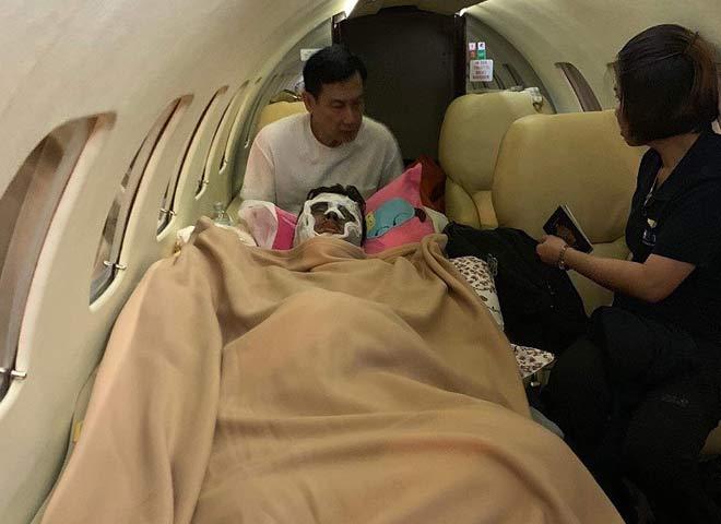 Cặp đôi Việt kiều bị tạt axit được đưa ra nước ngoài điều trị bằng chuyên cơ riêng 1