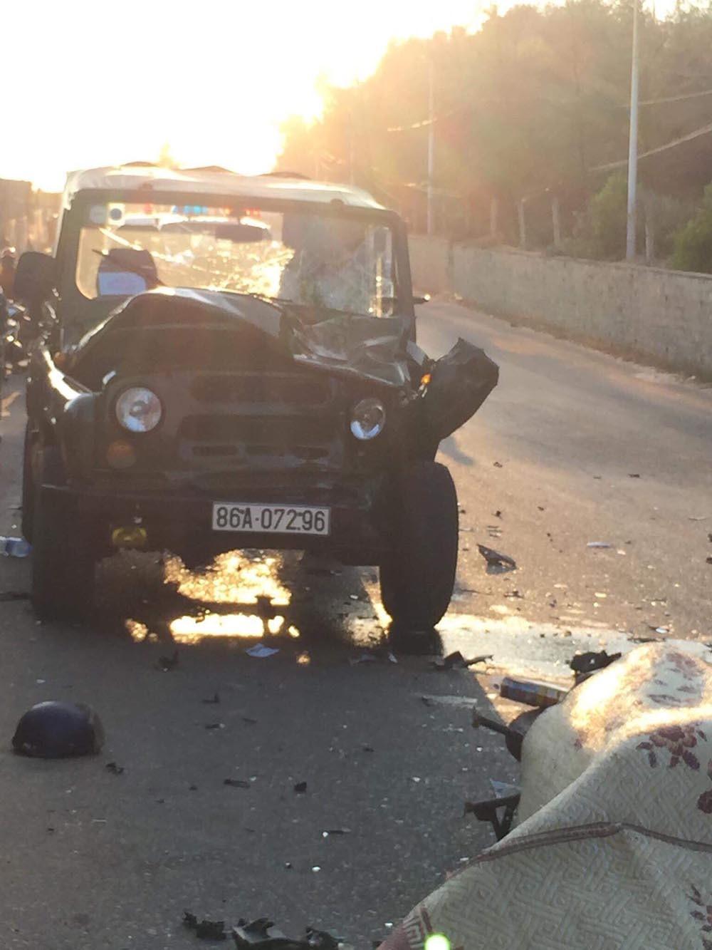 Bình Thuận: 2 cảnh sát PCCC thiệt mạng sau va chạm kinh hoàng với xe Jeep 2