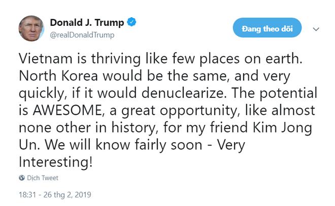 Ông Trump ca ngợi Việt Nam, hé lộ cơ hội độc nhất dành cho ông Kim 1