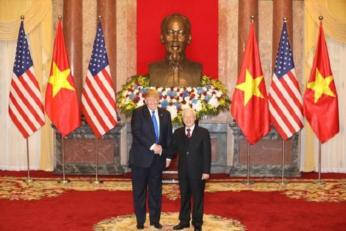 Tổng thống Trump hội đàm với Tổng Bí thư Nguyễn Phú Trọng tại Phủ chủ tịch 1