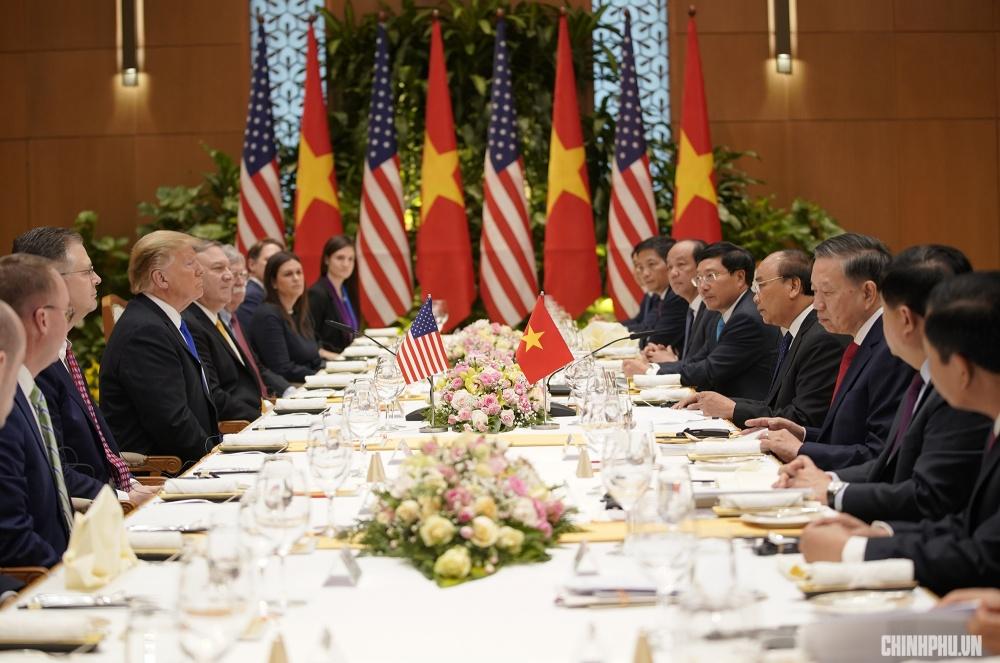Những hình ảnh ấn tượng trong cuộc gặp của lãnh đạo Mỹ - Triều tại Hà Nội 7