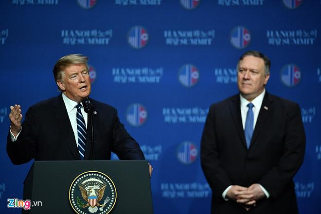 NÓNG: Trump chưa cam kết hội nghị tiếp theo với Kim Jong-un sau thượng đỉnh ở Hà Nội 1