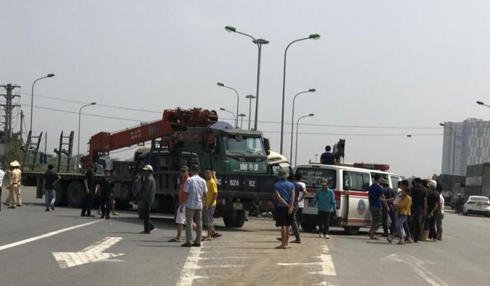 Tai nạn liên hoàn trên Đại lộ Thăng Long: Khởi tố lái xe tải 1