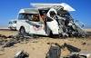 Xe bus lật nhào, bốc cháy, 11 hành khách bị thiêu chết