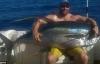 Cá ngừ vây vàng khổng lồ nặng 85 kg bị ngư dân tóm gọn