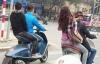 Bốn thanh niên đi xe máy đắt nhất Việt Nam, nghênh ngang vượt đèn đỏ