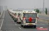 Chú rể dùng 36 chiếc xe tải đi đón dâu
