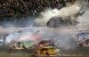 Video: Siêu xe bay lên không trung, cháy như phim trên đường đua