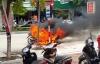 Kinh nghiệm xử lý khi xe máy bỗng nhiên bốc cháy