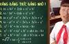 Video học thuộc 7 hằng đẳng thức qua bài chế