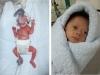 Cận cảnh bé sơ sinh nhỏ xíu bằng lòng bàn tay