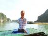 Ảnh: Nick Vujicic tham quan vịnh Hạ Long