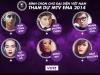Hồ Ngọc Hà tranh tài cùng 5 gương mặt trẻ tại EMA năm 2014